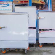 Tủ hấp cơm công nghiệp 12 khay dùng Gas Trung Quốc