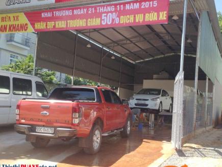 Lưu ý về tiêu chuẩn thiết kế tiệm rửa xe ô tô kèm làm NỘI THẤT