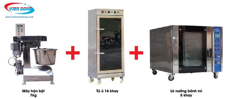 Dây chuyền làm bánh mì 3 thiết bị cơ bản