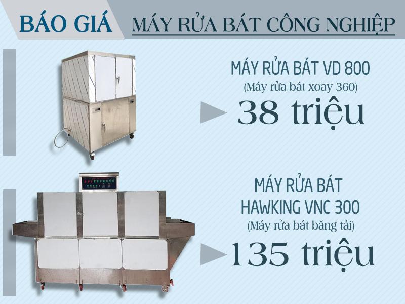 Báo giá máy rửa bát công nghiệp Việt Nam