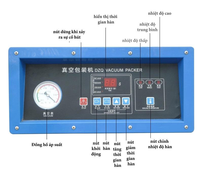 Bảng điều khiển máy hút chân không DZ400