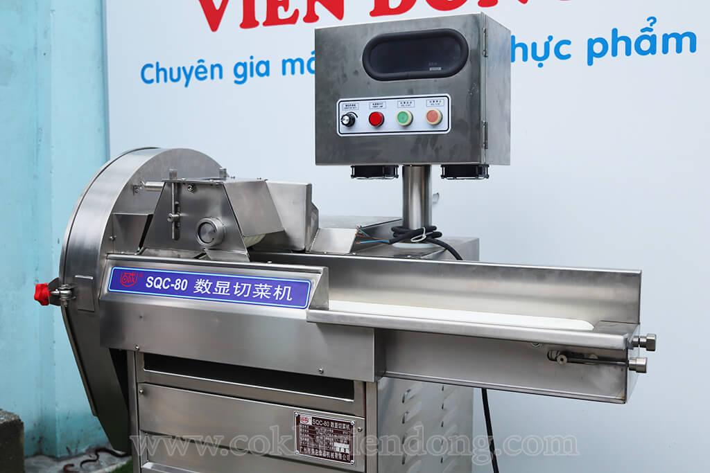 Máy thái rau củ băng tải SQC – 80
