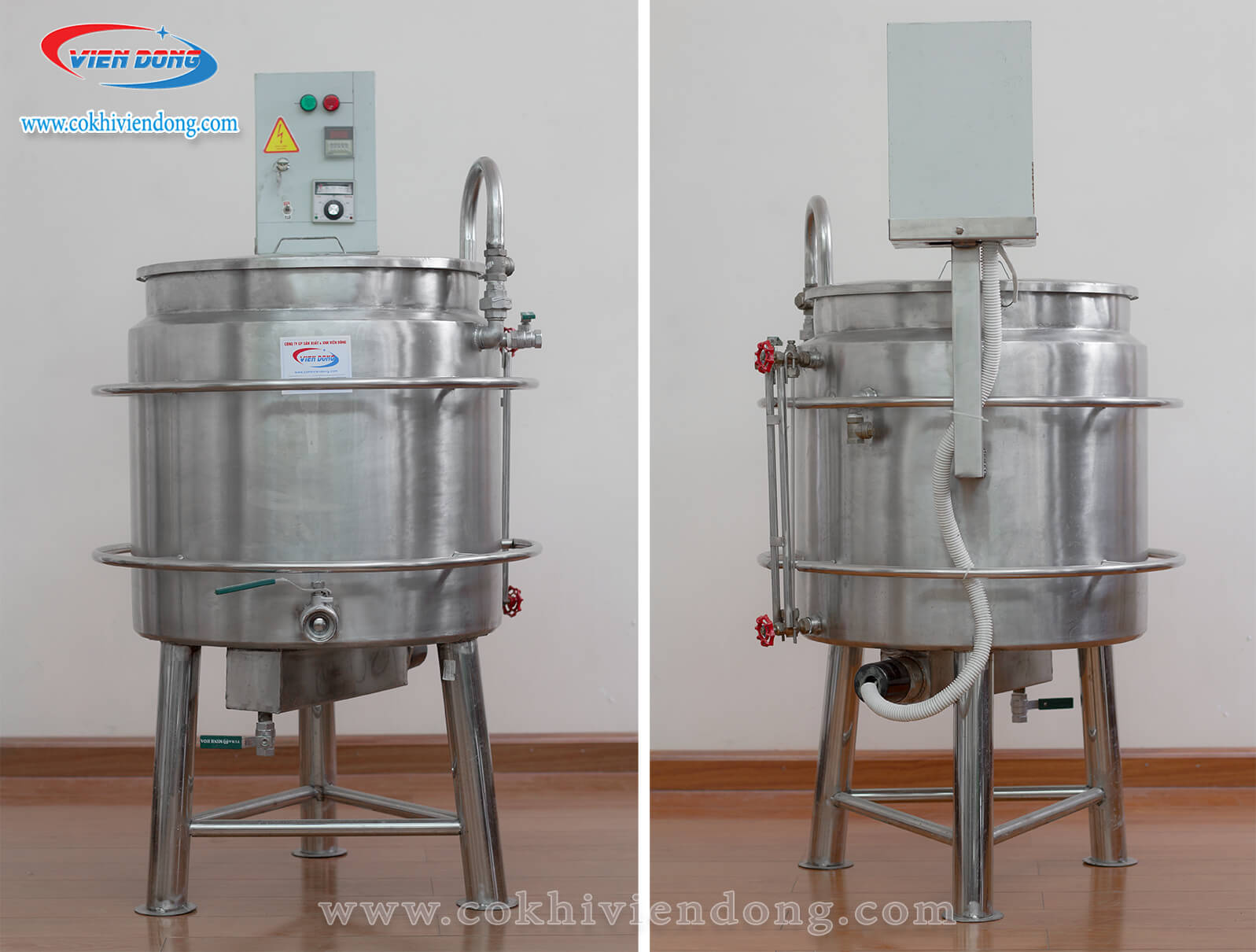Nồi nấu sữa đậu nành dùng điện 150L