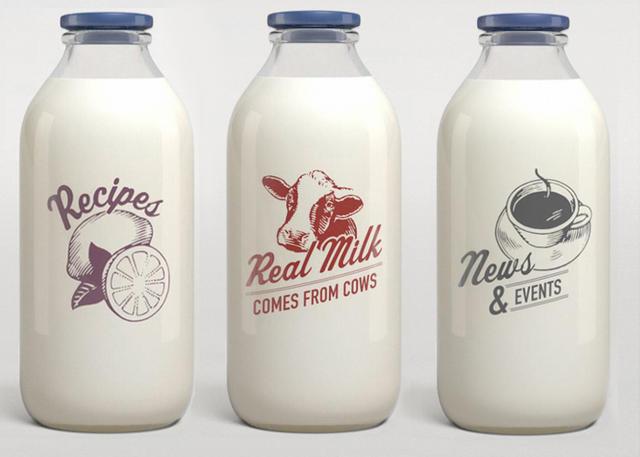 Chai đựng sữa bò