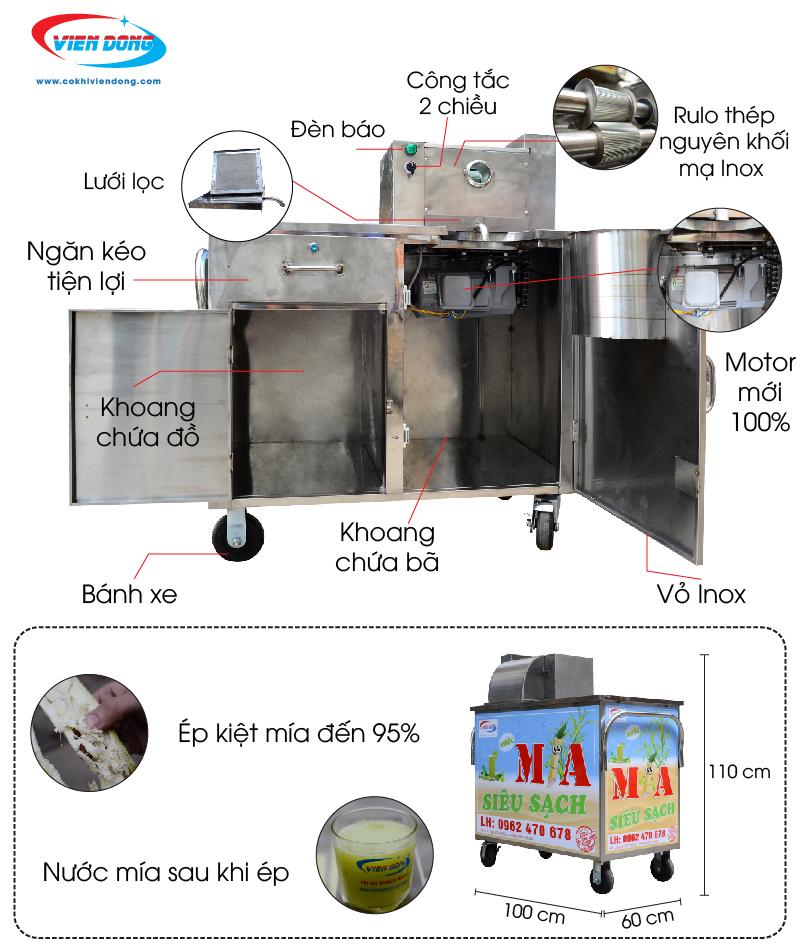 Xe nước mía X2–500