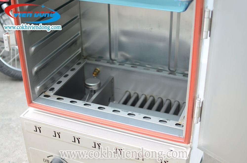 Tủ nấu cơm công nghiệp bằng Gas 6 khay Trung Quốc