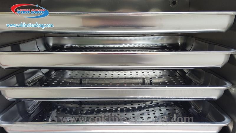Tủ hấp công nghiệp 6 khay dùng điện Trung Quốc