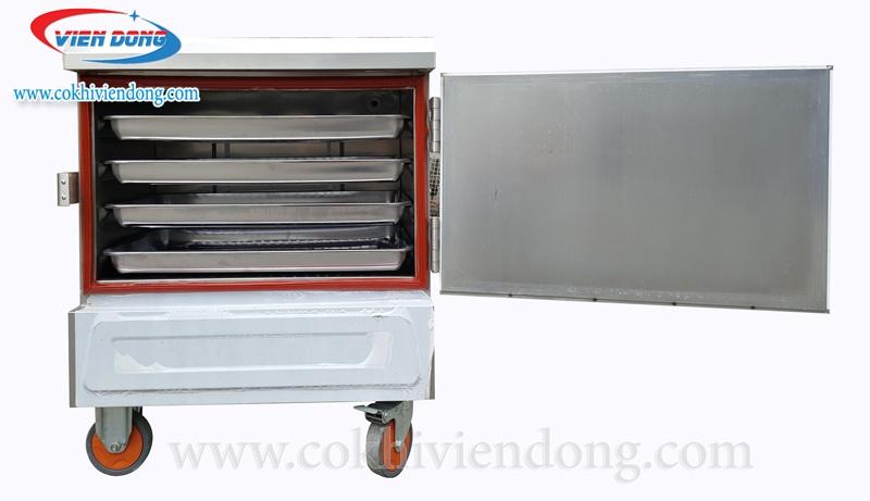 Tủ hấp công nghiệp 4 Khay dùng điện Trung Quốc