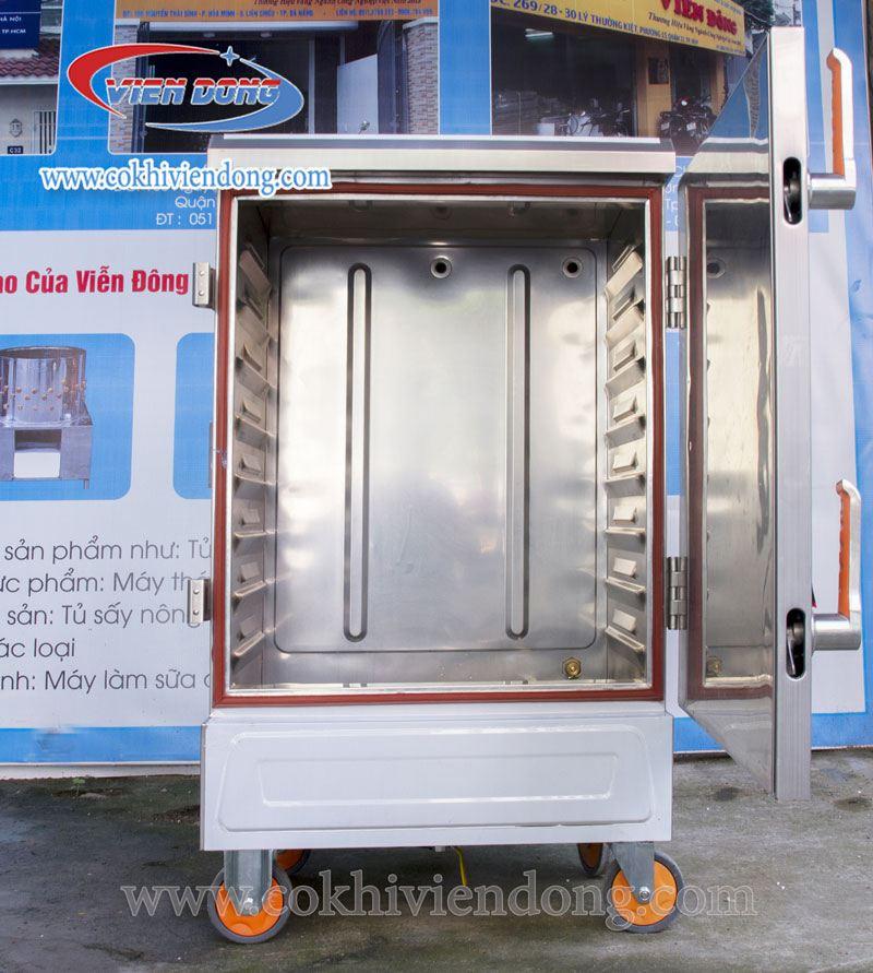 Tủ nấu cơm công nghiệp bằng điện 8 khay Trung Quốc