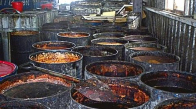 dầu ăn bẩn