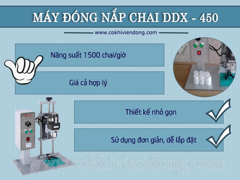 Tổng hợp 1 số ưu điểm của máy đóng nắp chai nhựa DDX 450
