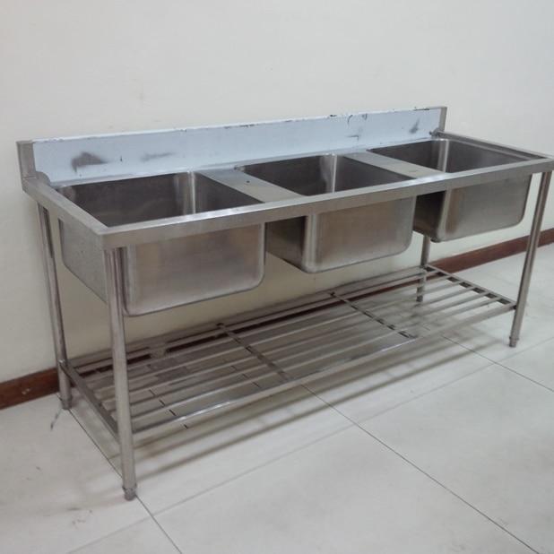 Chậu rửa inox công nghiệp 3 hố (1)