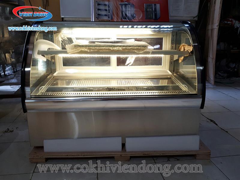 tủ kính trưng bày bánh kem 2 tầng