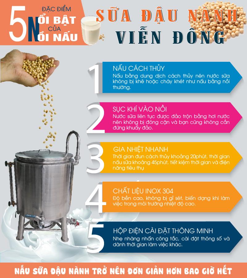 5 đặc điểm của nồi nấu sữa đậu nành Viễn Đông