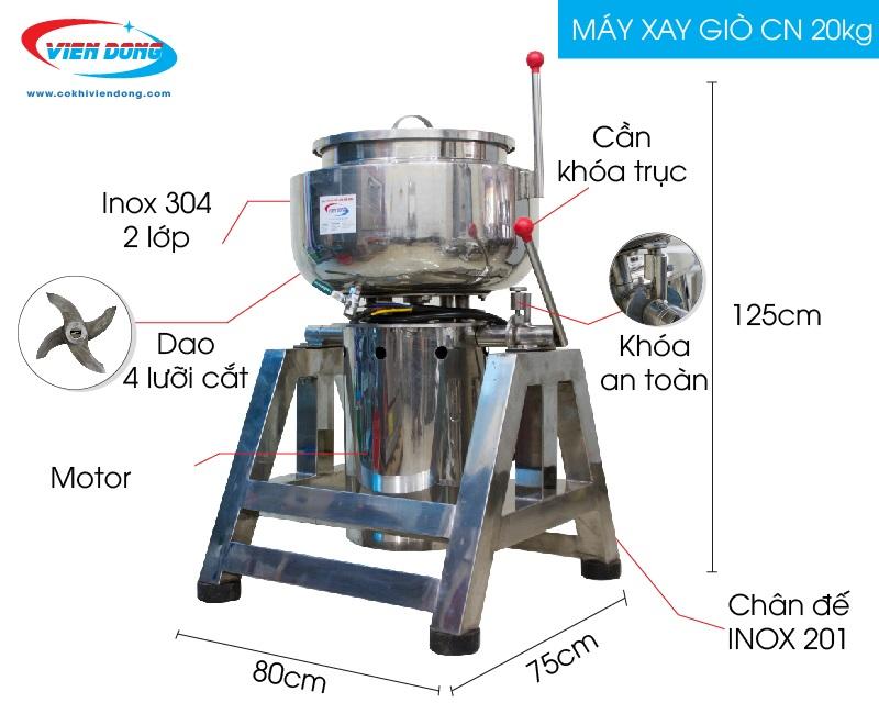 Máy xay giò công nghiệp 20kg