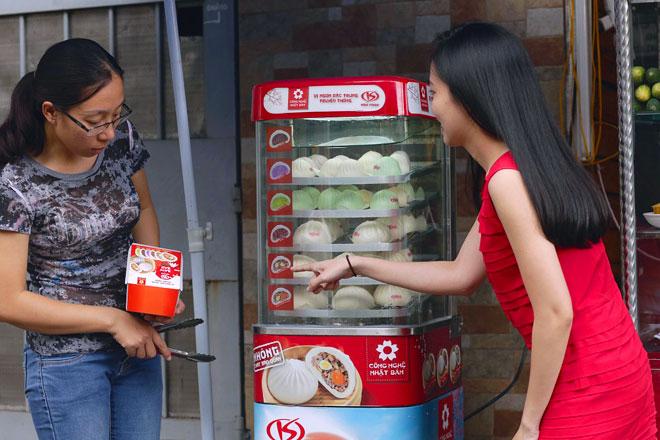 tủ trưng bày bánh bao mini