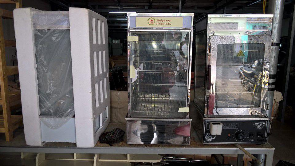 tủ trưng bày bánh bao mini cũ