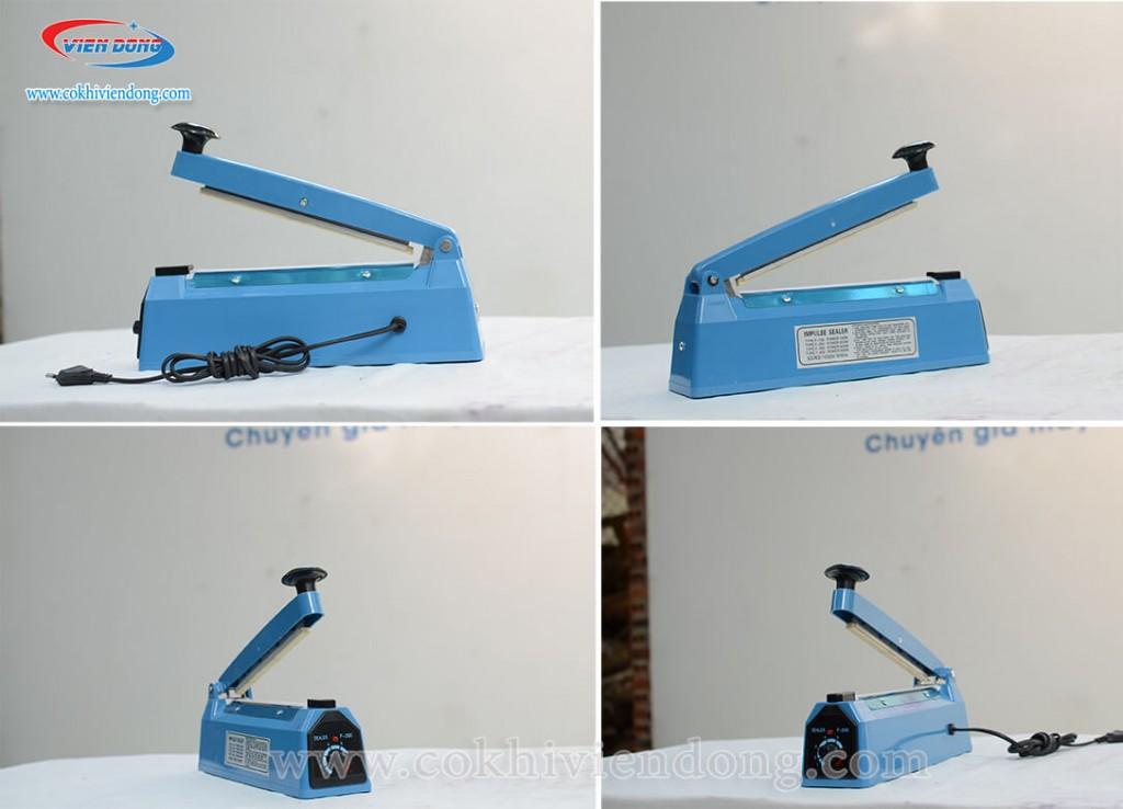 máy hàn miệng túi dập tay PFS 200 màu xanh
