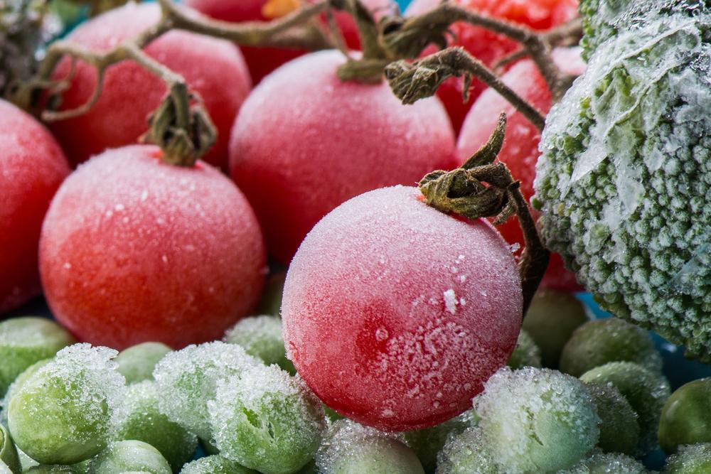 thực phẩm bị đông đá và đóng lớp tuyết dày