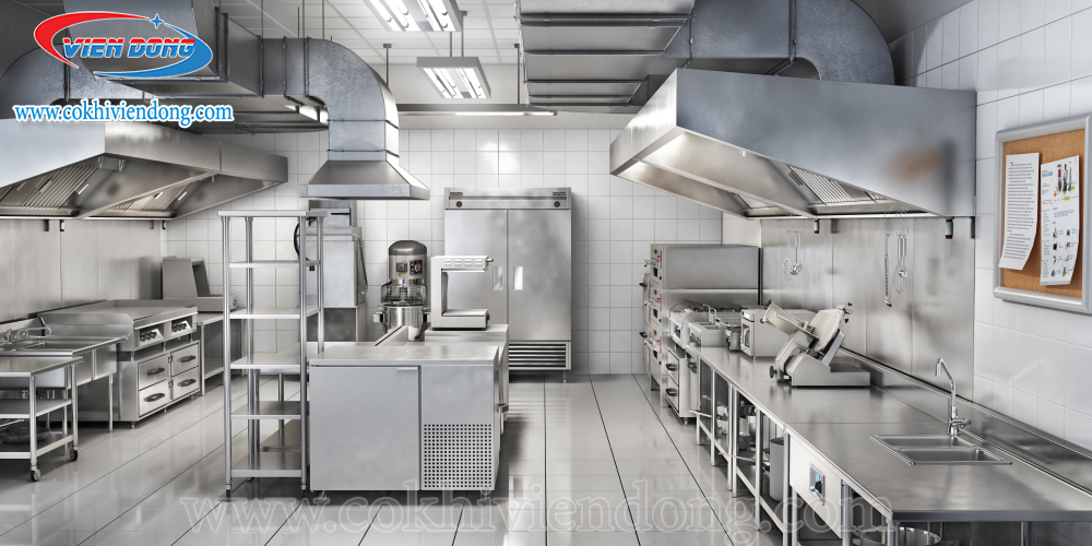 Khu vực bếp nhà hàng