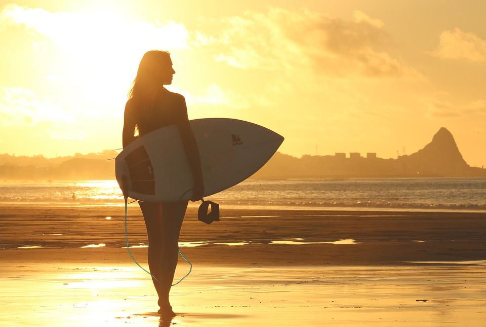 bình minh trên bãi biển
