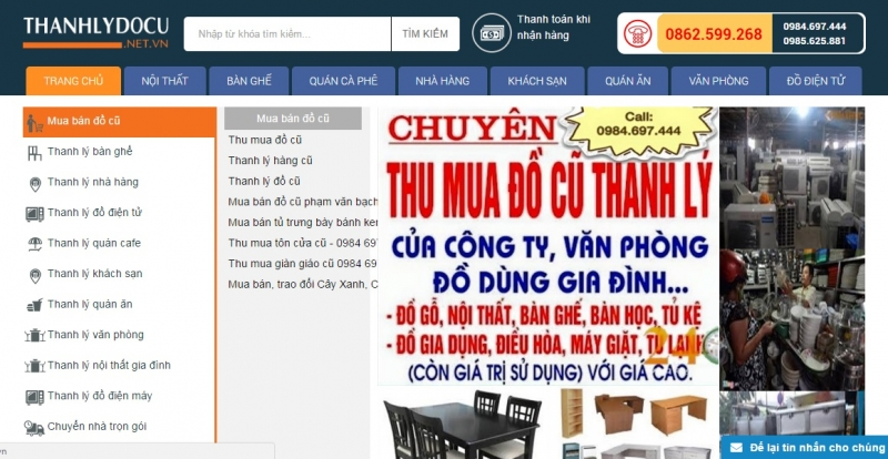 thanh lý bếp nhà hàng tại trang web