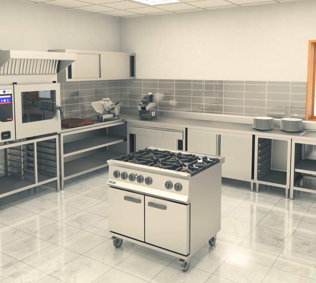 thiết kế bếp nhà hàng