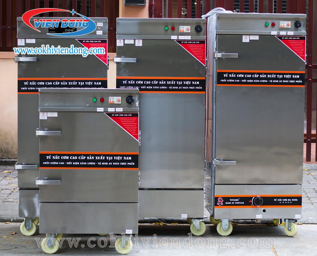 Tủ nấu cơm điện 20 khay khác với tủ cơm bằng gas