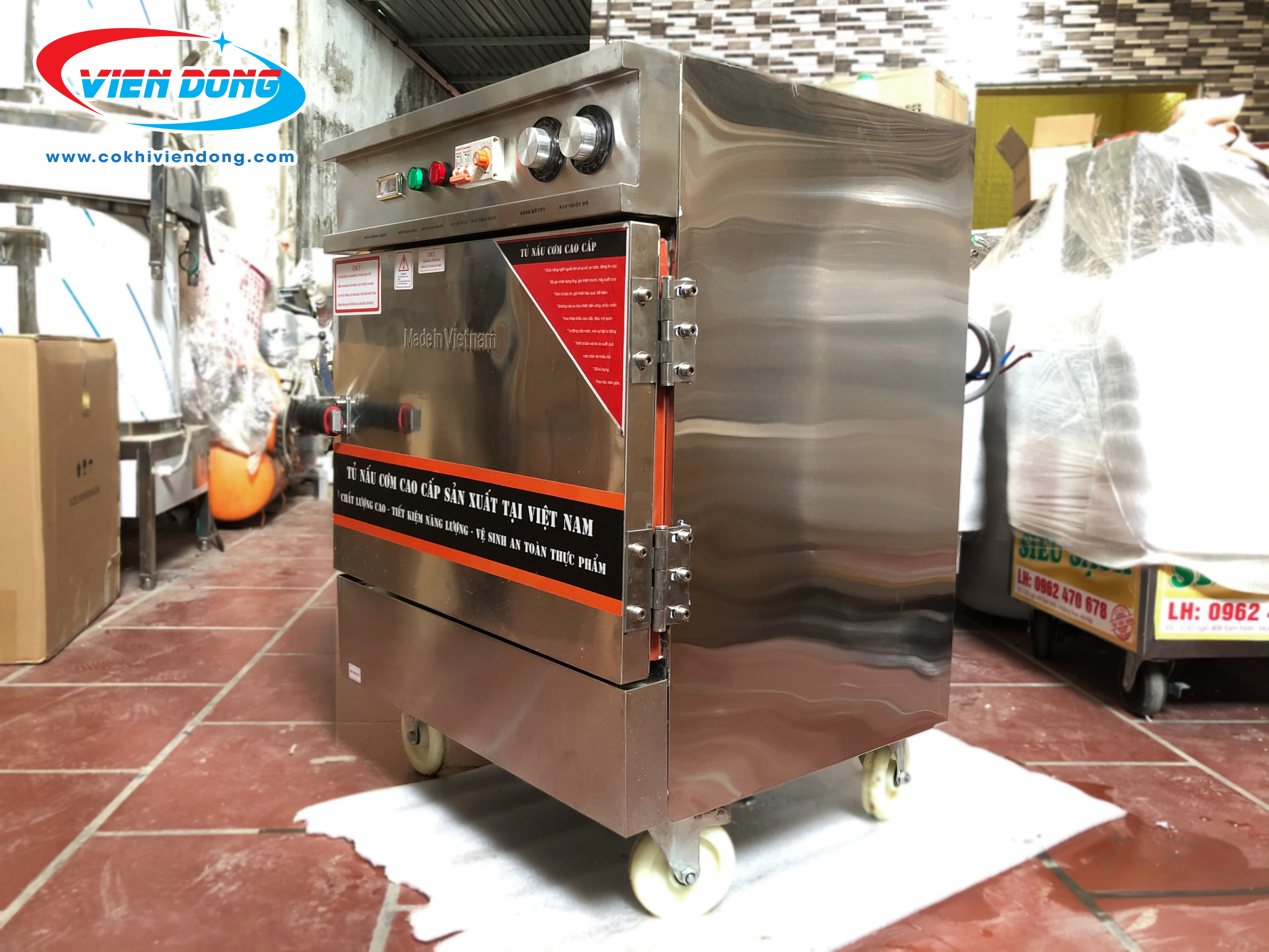 Tủ nấu cơm 4 khay mini (10kg/mẻ)