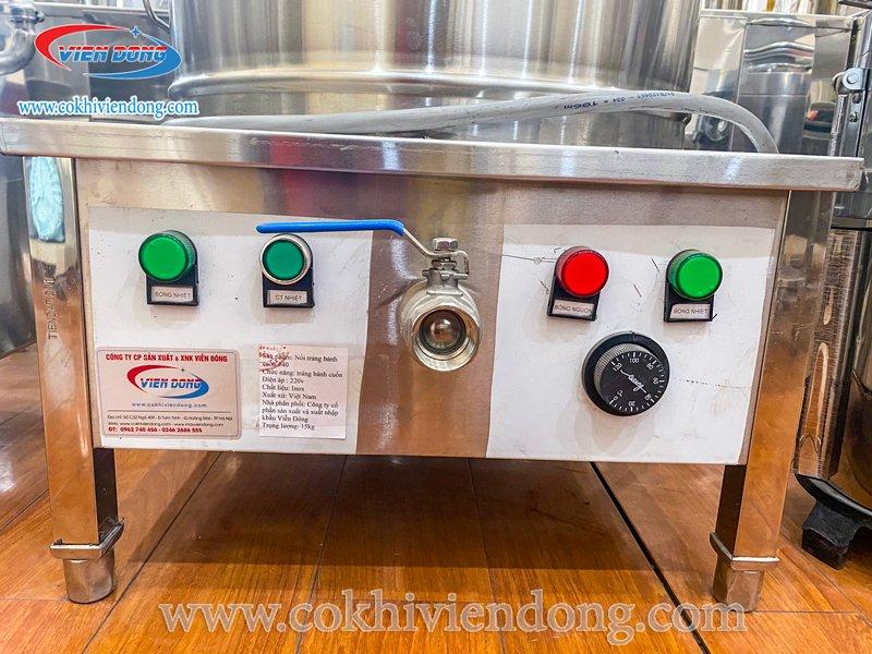 Tắt nút công tắc nhiệt để giữ nước sôi liu riu