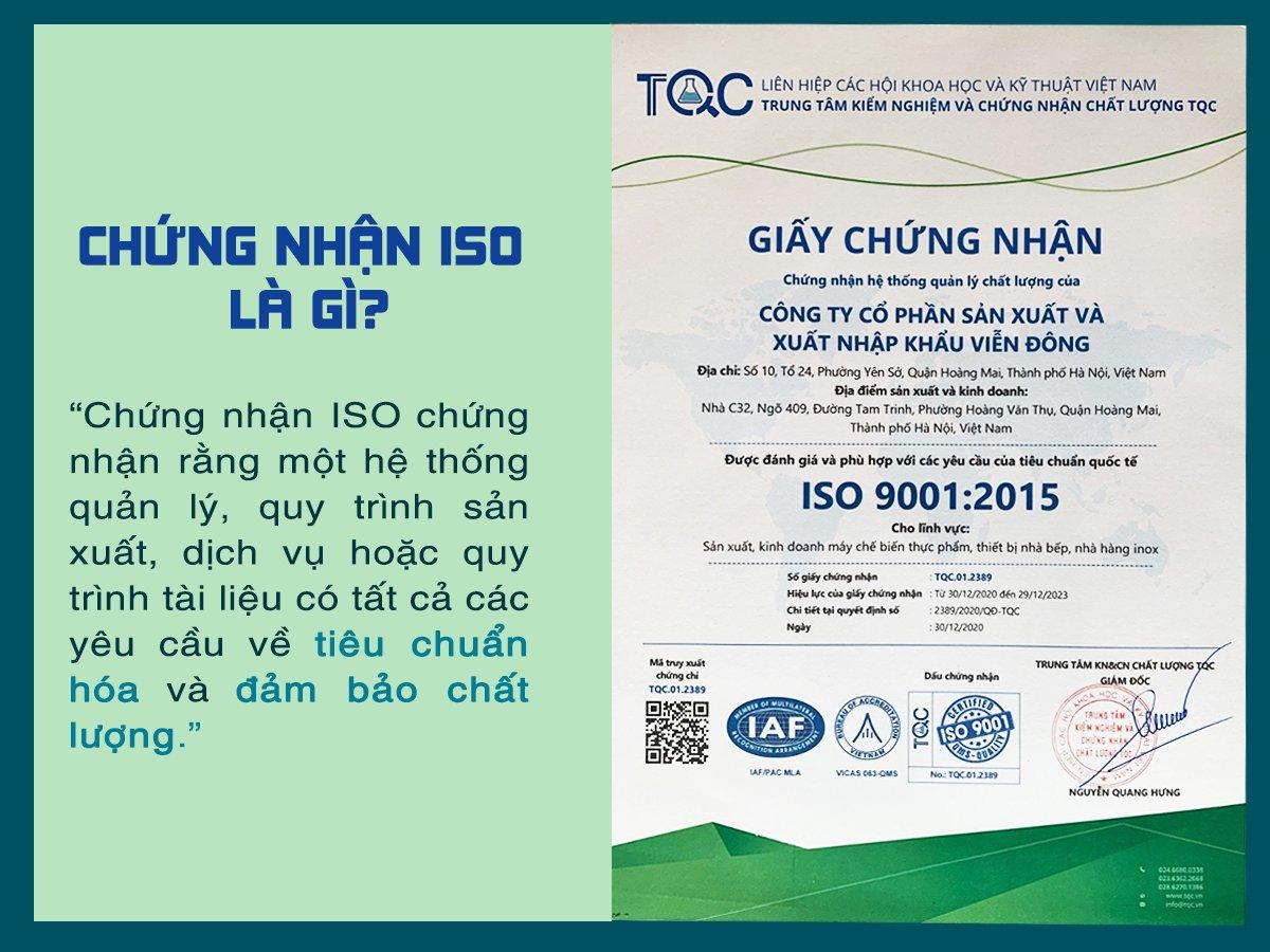 Hệ thống quản lý chất lượng Viễn Đông chuẩn ISO
