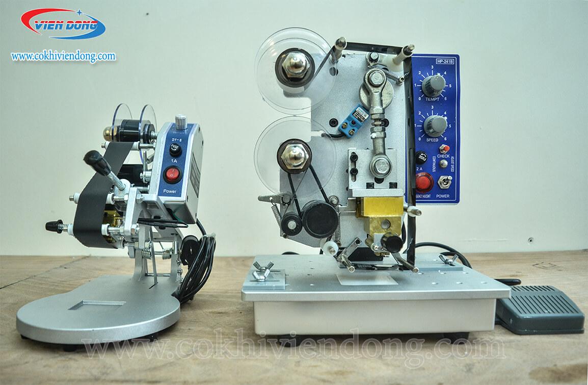 máy dập ngày sản xuất HP-241B (bên phải)